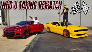 who-u-got-rematch-stunna-hell-cat-vs-my-supercharged-camaro-ss