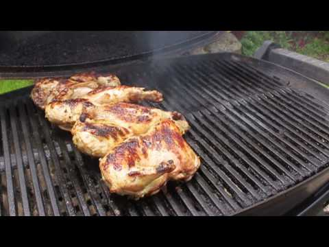 Food Wishes Recipes - Grilled Game Hens Recipe - Garlic And Pepper Marinated Game Hens Recipe