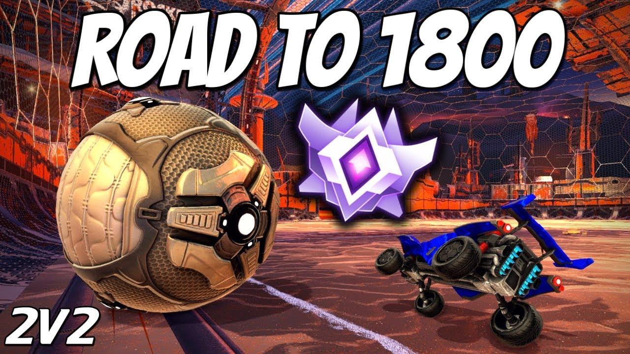 1800 MMR GRIND | Road to Top 100 2V2 (Rocket League Gameplay)