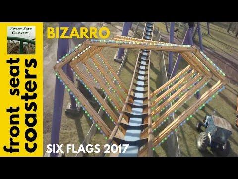 Bizarro POV HD Front Seat On-Ride 2017 Six Flags Great Adventure B&M Floorless Roller Coaster