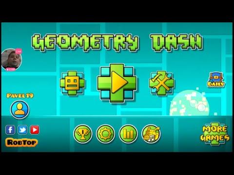 Играю в Geometry Dash