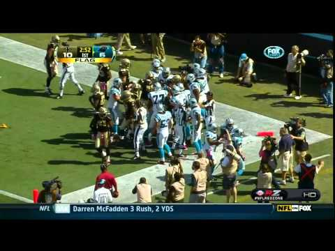 Panthers Steve Smith TD Fight