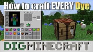 How to craft EVERY dye in Minecraft (EVERY RECIPE)