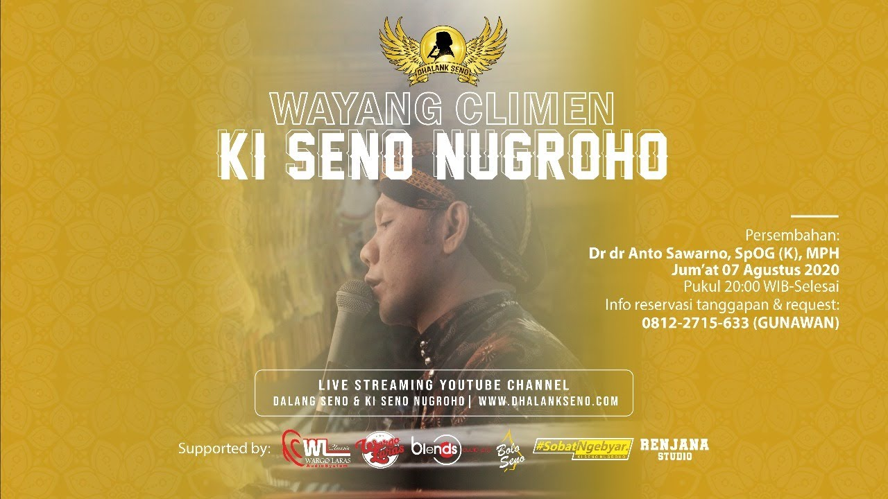 #LiveStreaming Wayang Climen Ki Seno Nugroho - ONTOSENO RABI