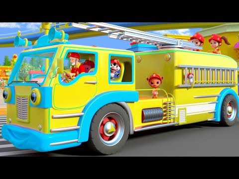 Wheels on the Fire Truck go Round and Round - Kids Rhymes by Little Treehouse
