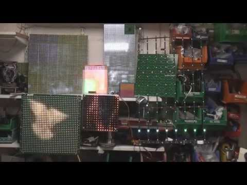 Driving LED matrix displays with an FPGA