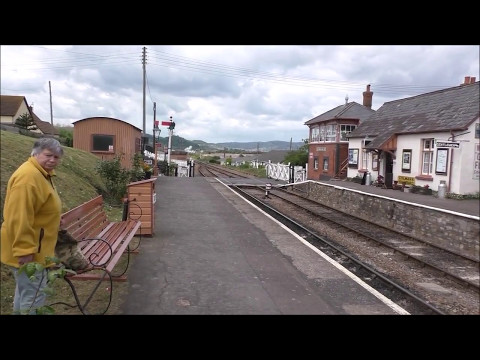 WESTERN DIESEL 1010 SPECIAL AND STEAM AT BLUE ANCHOR WSR 13 MAY 2017