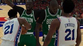 NBA 2K19 Tacko Fall My Career Ep. 13 - Tacko and Embiid Beef!