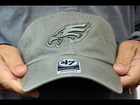 Eagles 'CLEAN-UP GREYOUT STRAPBACK' Hat by Twins 47 Brand