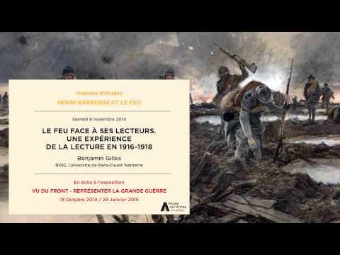 Journée d'étude 8 novembre 2014, Henri Barbusse : Le Feu face à ses lecteurs.