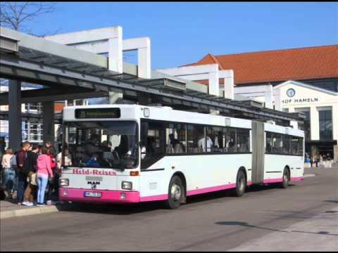[Sound] Bus MAN SG 312 (HM-TQ 22) der Fa Held Reisen, Hessisch Oldendorf (Landkreis Hameln-Pyrmont)