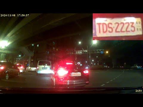 計程車TDS-2223號左轉彎未依規定使用方向燈(1/2)
