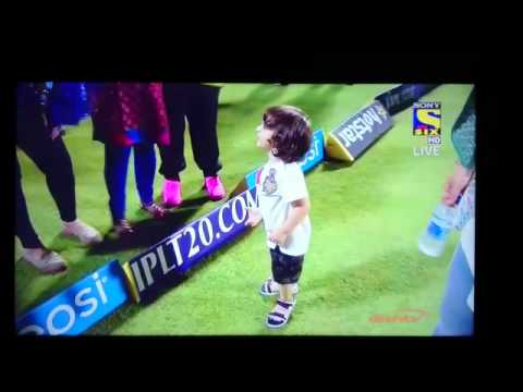 AbRam playing on the cricket ground! :D