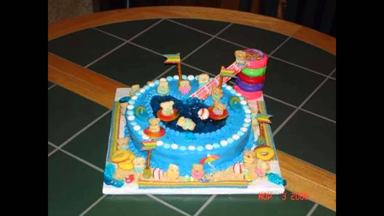 Pool Party Cake Decorations Ideas Youtube
