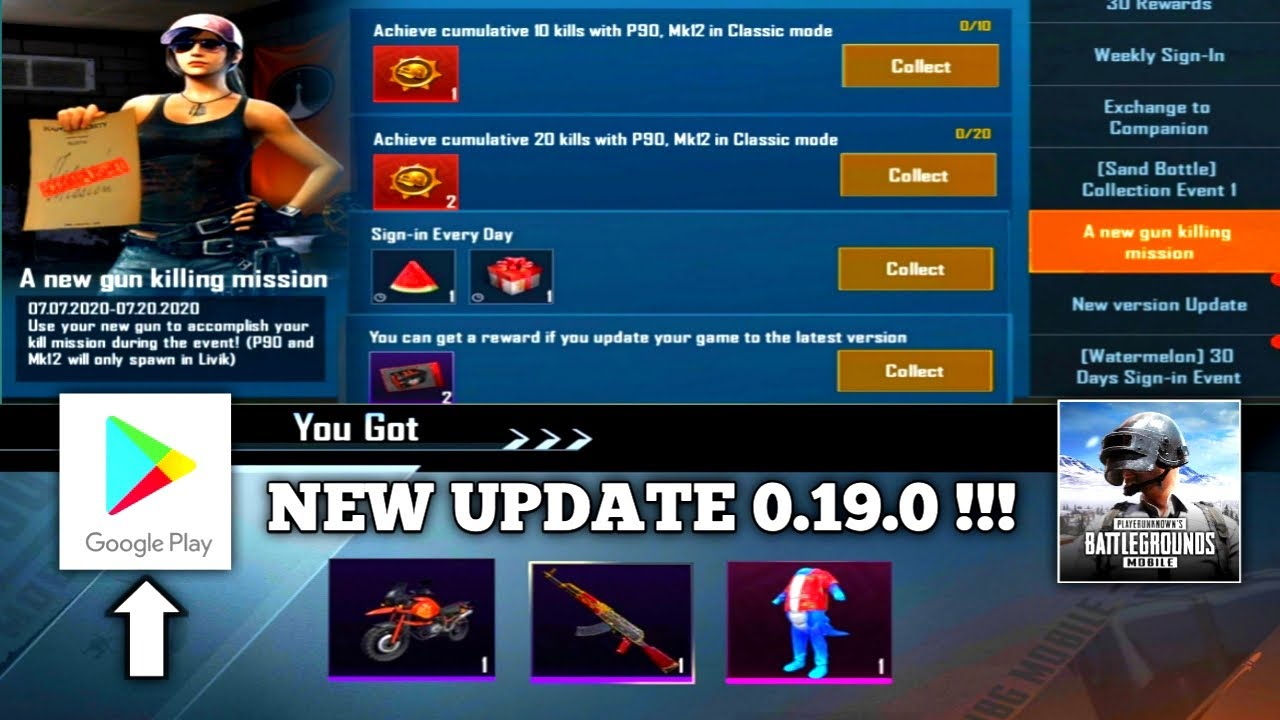 NEW UPDATE 0.19.0 !!! SO MANY NEW EVENT & REWARD | UPDATE VIA PLAY STORE IS EASY |PUBG MOBILE KOREA