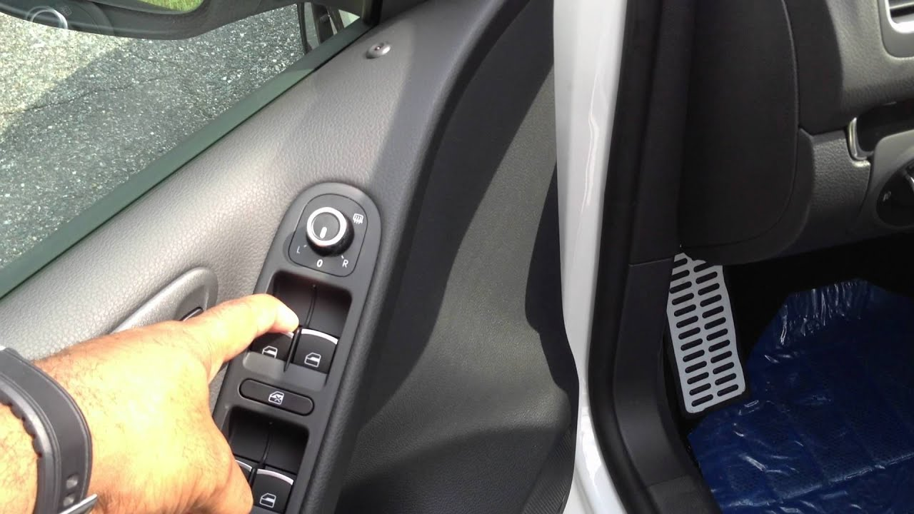 How to roll the windows up and down without a key on a Volkswagen - YouTube