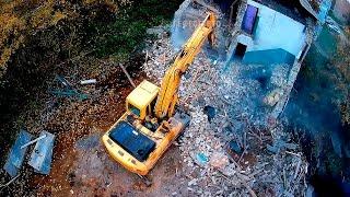 Снос сооружения. Демонтаж старого здания, формат общежития. Снос здания г. Руза.(, 2016-10-18T16:49:44.000Z)