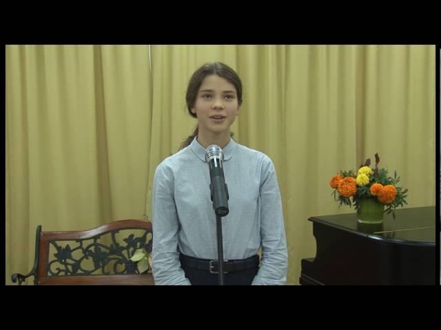 Изображение предпросмотра прочтения – УльянаСваткова читает произведение «Летняя ночь» И.А.Бунина