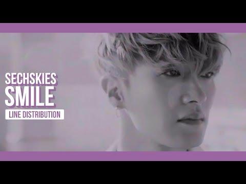 SECHSKIES - SMILE Line Distribution (Color Coded) | 젝스키스 - 웃어줘