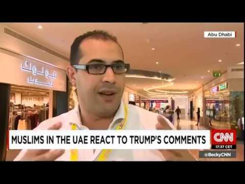Sultan Al Qassemi on CNN on Donald Trump's proposed ban on Muslims
