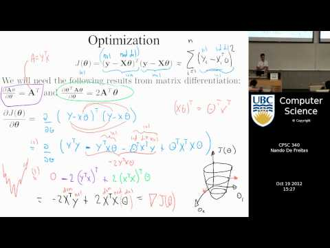 undergraduate machine learning 18: Least squares and the multivariate Gaussian