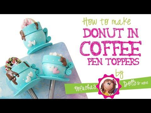 DIY coffee cup donut paper clip / pen topper - Fun Craft foam