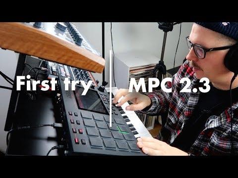 Quick beatmaking using the Akai MPC 2.3 update.