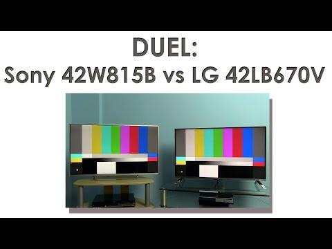 LG 42LB670 vs Sony 42W815B Smart TV test