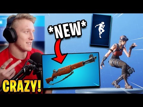 """Tfue React to *NEW* """"Infantry Rifle"""" Weapon & """"Slick"""" Emote! 