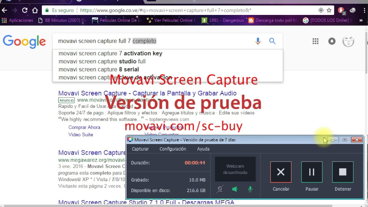activation key for movavi screen capture 8