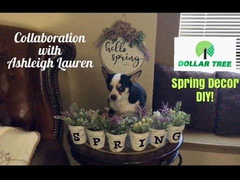 Dollar Tree Farmhouse Spring Decor Diy!!! A Collaboration With Ashleigh Lauren!