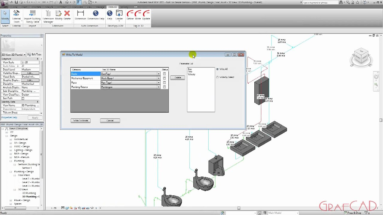 Revit mep isometric piping tagging youtube revit mep isometric piping tagging pooptronica Image collections