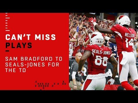 Sam Bradford Connects w/ Ricky Seals-Jones to Cap Off TD Drive