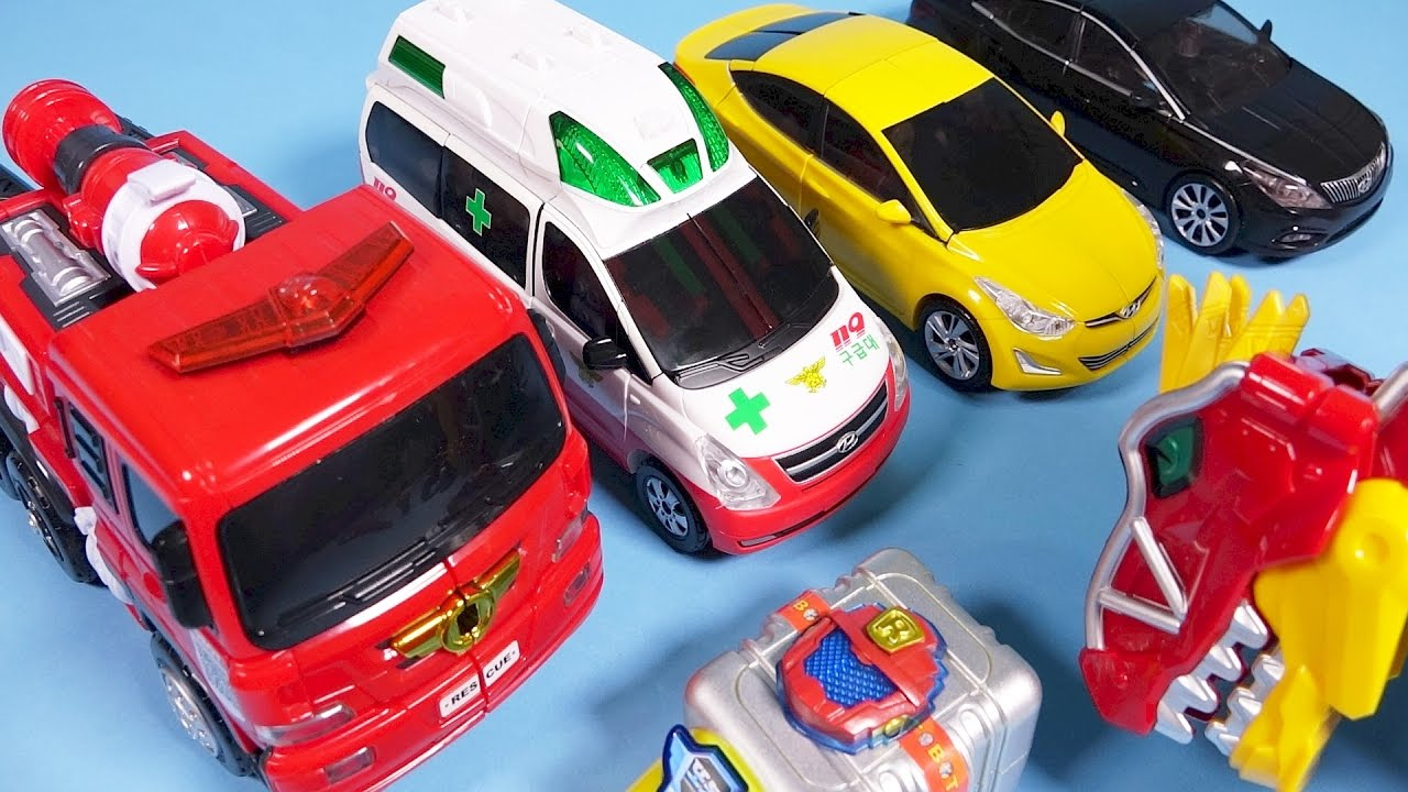 Tobot R And Carbot Transformers Car Toys With Dino Charge Youtube