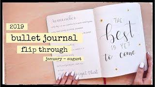 2019 Bullet Journal Flip Through | January - August
