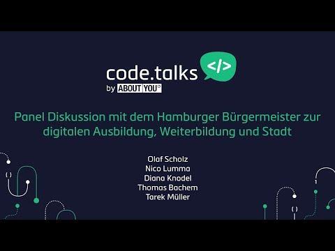 code.talks 2017 - Panel Diskussion mit dem Hamburger Bürgermeister zur digitalen Ausbildung
