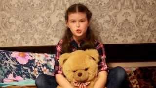 "Злата Кравченко - тема ""Мой папа"" | Детский проект  ""Стих на табуретке"""