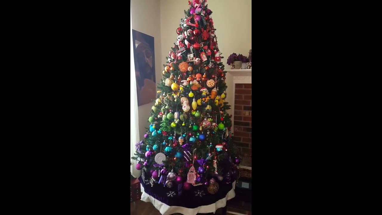 A Tour Of Our Rainbow Christmas Tree And Ornaments 2016