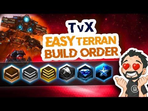 StarCraft 2 - TvX - Easy Beginner Terran Build Order! You Can Reach Master League!