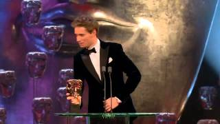 Eddie Redmayne wins a BAFTA Award for The Theory of Everything 2015