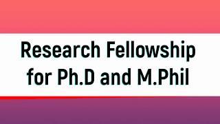 PhD Scholar जो NET Clear है उन्हें मिलेगी Special Research Fellowship || 30-40 Thousand per month