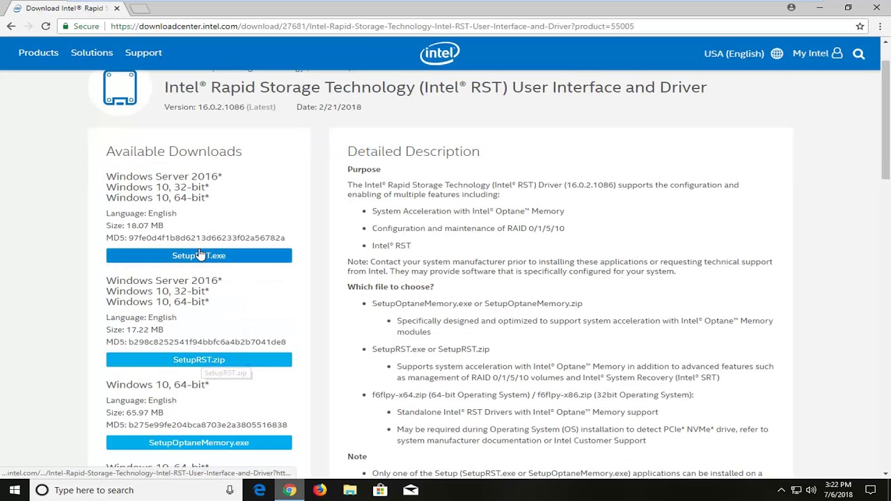 intel matrix storage manager driver lenovo