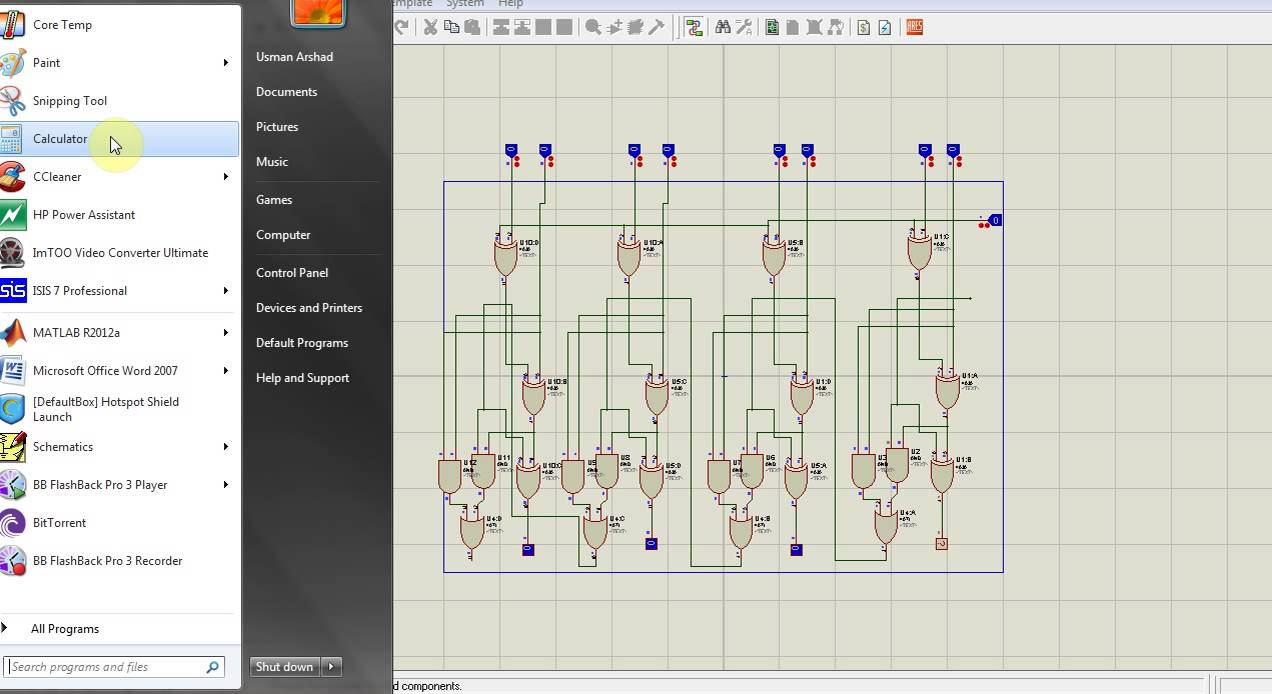 4 bit full adder circuit diagram the wiring diagram 4 bit adder internal circuit in proteus simulation hari circuit