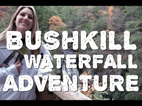 Hiking Bushkill Falls in the Pocono Mountains