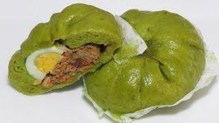 ПАРОВЫЕ БУЛОЧКИ с НАЧИНКОЙ рецепт со шпинатом вьетнамские булочки Бань Бао китайские булочки баоцзы