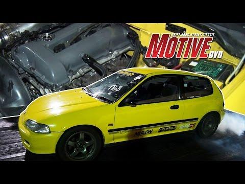 SR20 Powered Rear-Wheel-Drive Honda Civic  - Motive Drag Nights