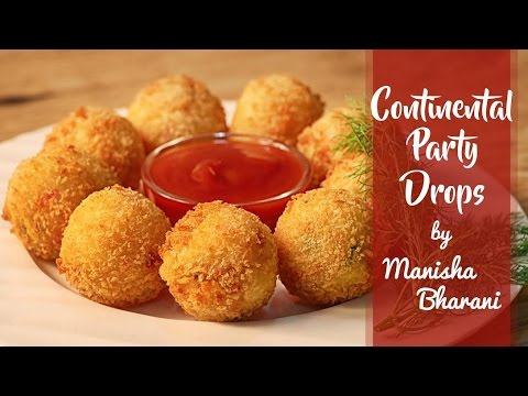 Continental Party Drops - Quick Cheesy Crispy Party Starter/ Snack - Appetizer Recipe
