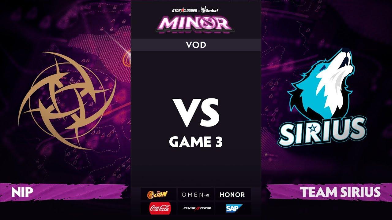 [RU] Ninjas in Pyjamas vs Team Sirius, Game 3, StarLadder ImbaTV Dota 2 Minor S2 Group Stage