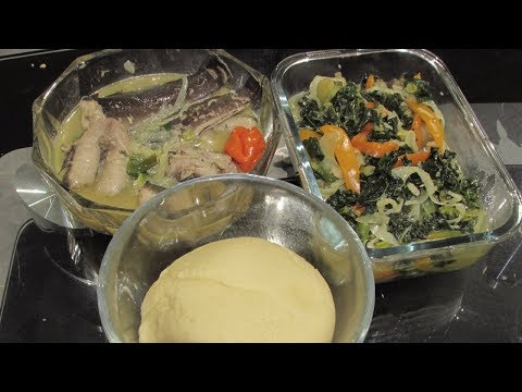 Congolese Food Ngolo (Fish) & Kale