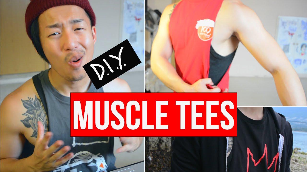 eeeee7272 HOW TO CUT A MUSCLE TEE OR T-SHIRT INTO A TANK TOP DIY (LAURDIY PARODY) -  YouTube